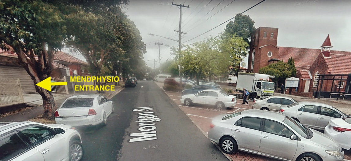 Street view of MENDPHYSIO from Morgan St carpark